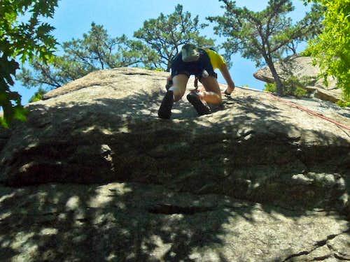 Climbing over the Ledge