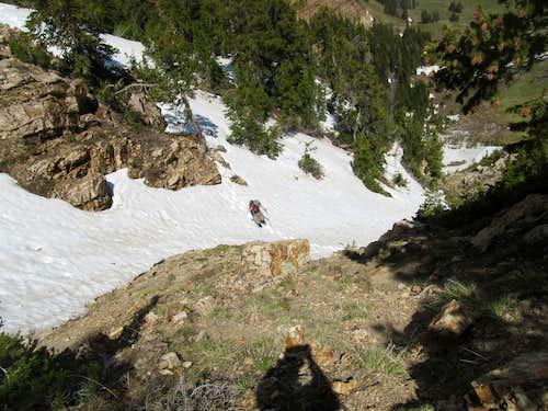 snow along Pockets Fold route