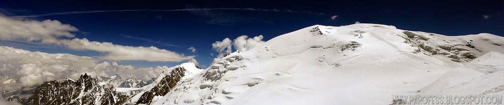 Aguille di Midi, Mont Blanc de Tacul, Mont Maudit and Dome du Goûter