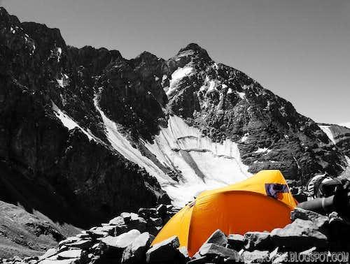 My tent, cutout photo