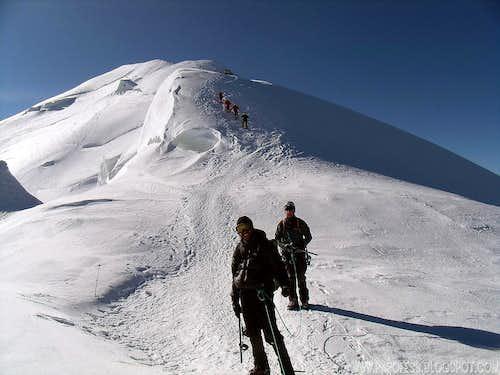 Mont Blanc, Petit Bosses Ridge