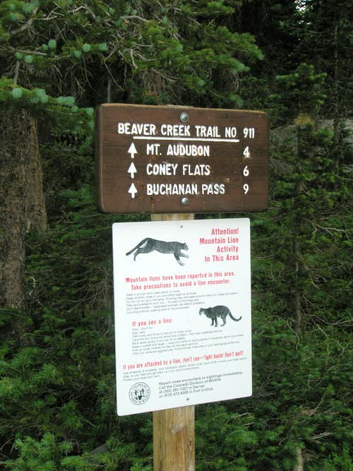 Beaver Creek Trail Sign