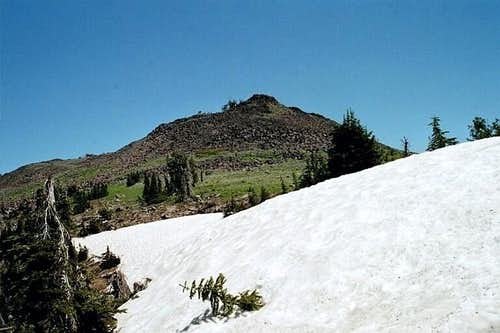 The approach to the summit of...