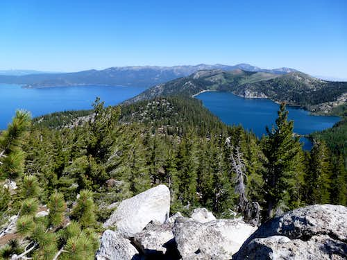 View of Lake Tahoe and Marlette Lake from Peak 8738