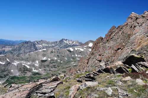 Near the summit of Flattop Mountain