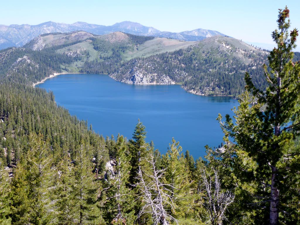 Looking north past Marlette Lake up the Carson Range