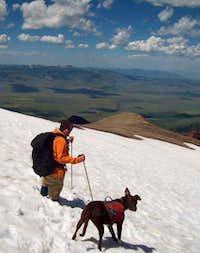 Snowfield below the summit