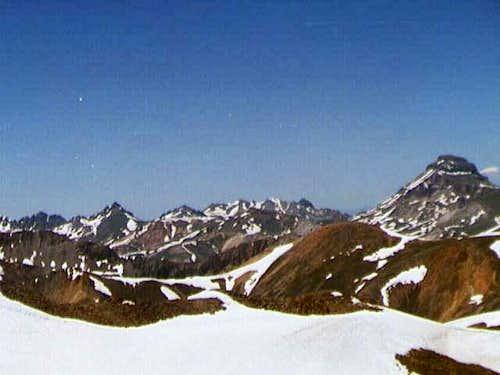 Wetterhorn Peak and...