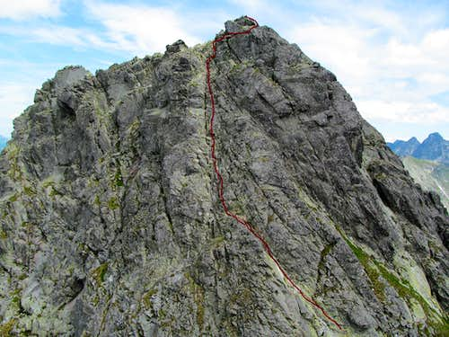 Our route up Kozi Wierch