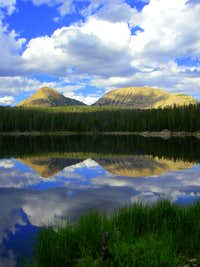 A BEAUTIFUL Reflection of Reids Peak and Bald Mountain