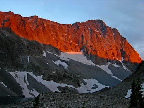 Alpenglow on Capitol Peak