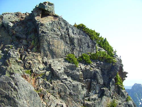 South Face of Devils Peak summit block