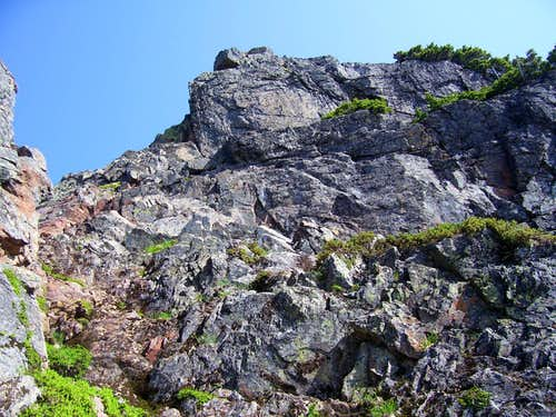 Devils Peak summit block from below