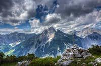 Gamsjoch seen from Schaufelspitze ascent