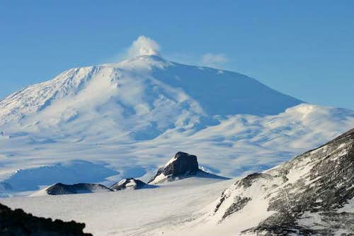 Castle Rock and Mt Erebus...