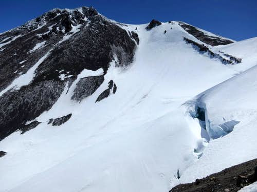 Crevasse on the Whitney glacier from just below the West ridge