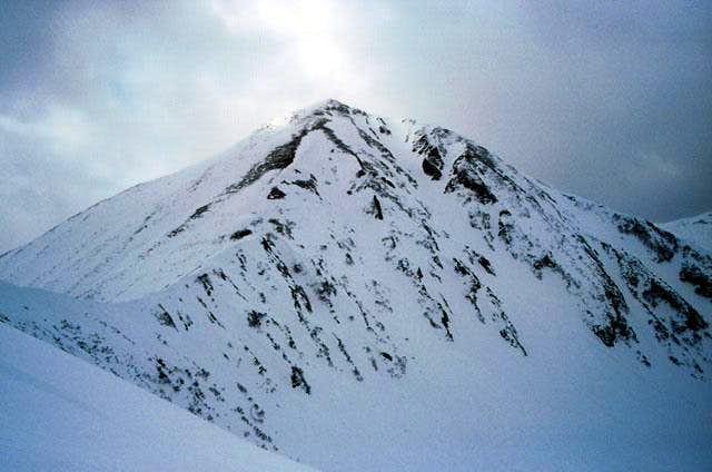 Ostraja sopka as can be viewed from the range above Chutorskaja stream, April 2003.