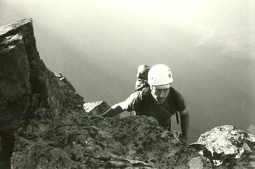 Steve approaching the top