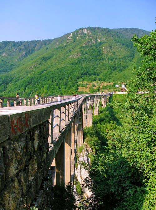 Đurđevića Tara Bridge is a concrete arch bridge over the Tara River in northern Montenegro