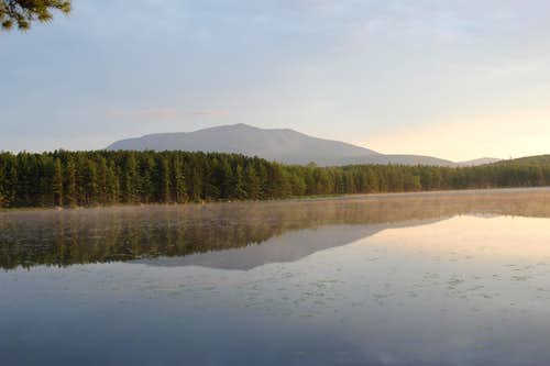 Katahdin at 4:30 AM from NEOC\'s campground
