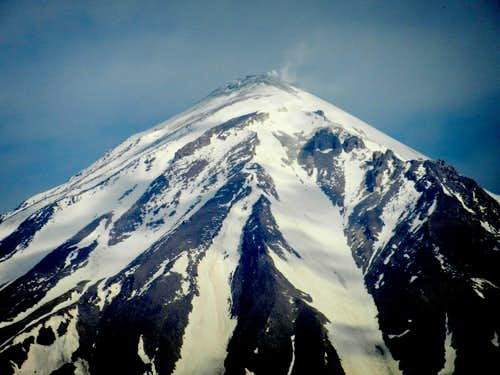 The summit of Mt. Damavand