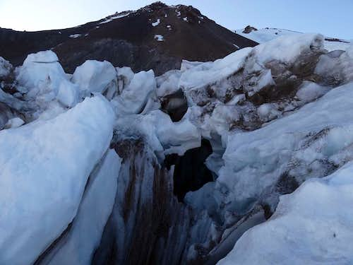 Mt Shasta, Whitney Glacier ice fall