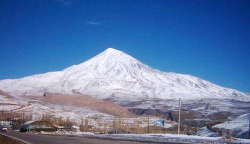 south view of Damavand mount...