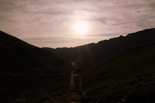 Sunrise from Stevens Gulch