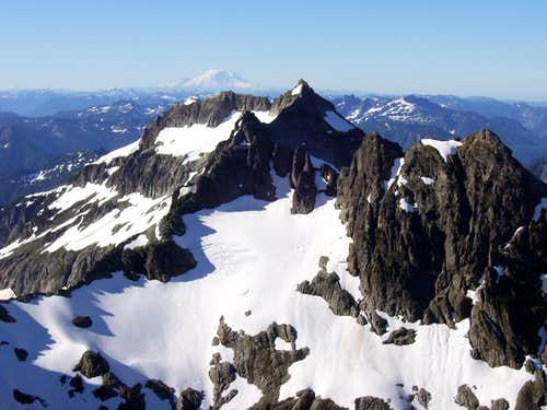 Columbia Peak from Cadet Peak