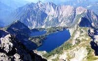 Twin Lakes from Columbia Peak