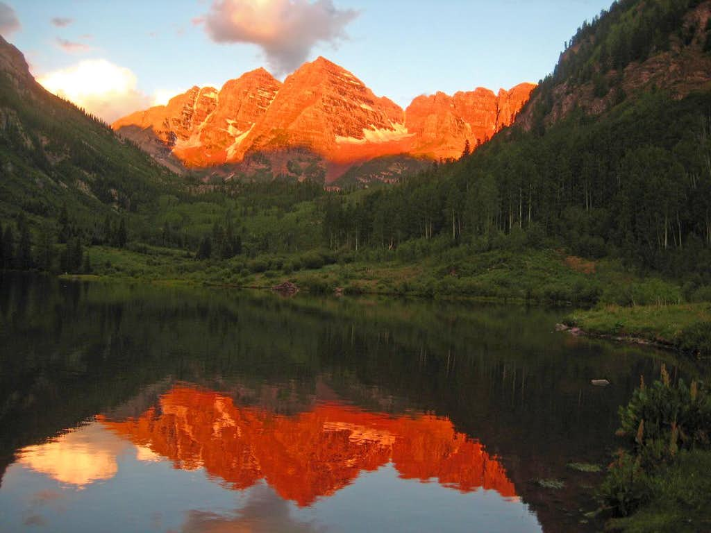Morning Reflection of the Maroon Bells
