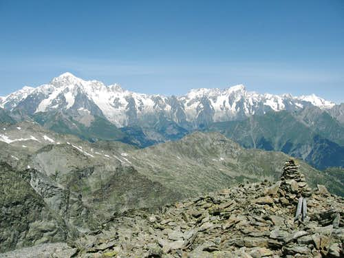 The summit of Mont Paramont