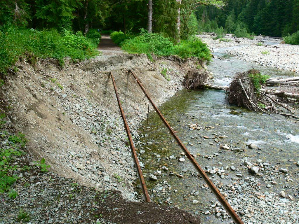 Railroad though the Trail