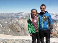 Ian and Laura at Monte Perdido Summit