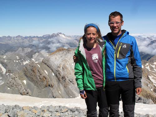 Ian and Laura at Monte Perdido Summit
