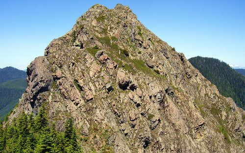 Big Deer Peak summit from 4240  point on south ridge