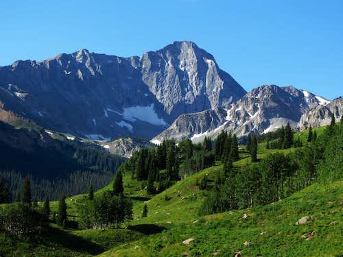 Capitol Peak over meadows