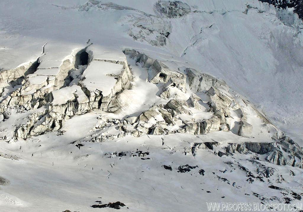 Ice cave on Mont Blanc