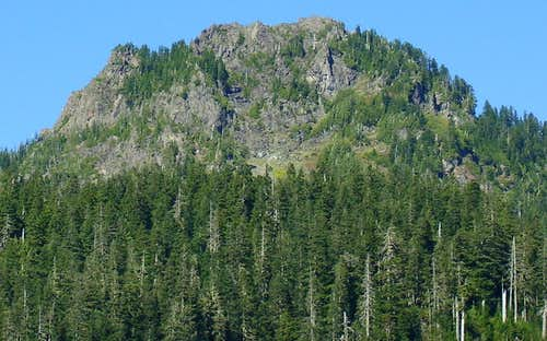 Independence Peak south face from Coal Lake Road