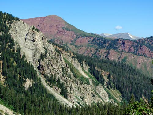 Red Mountain over Capitol Creek