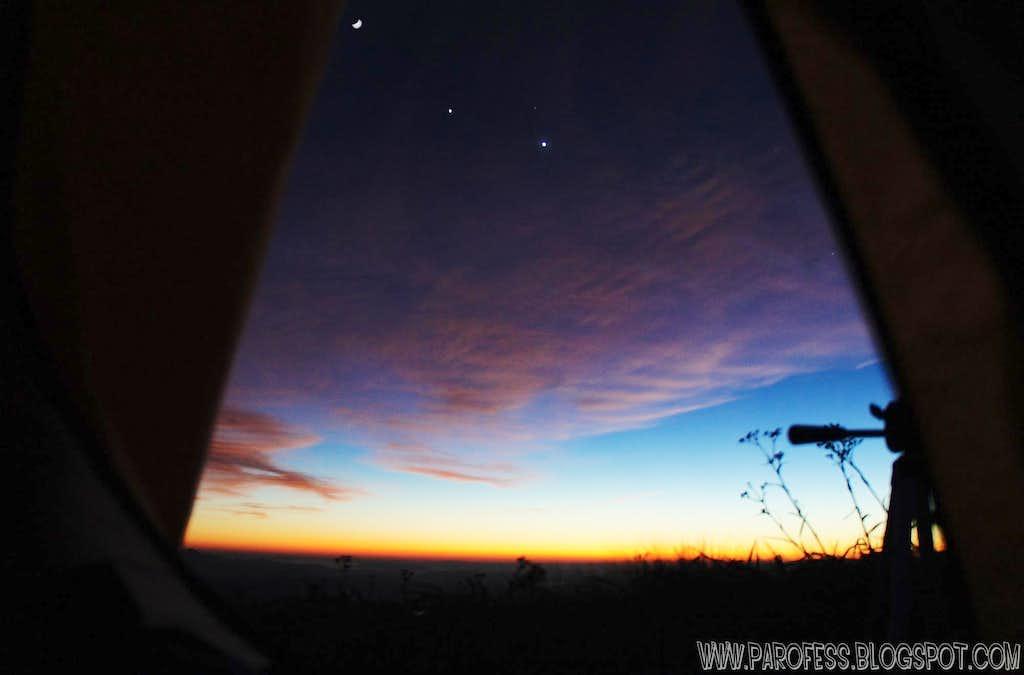 Night, moon and stars