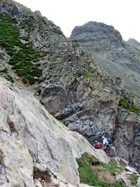 Gully below Daly saddle