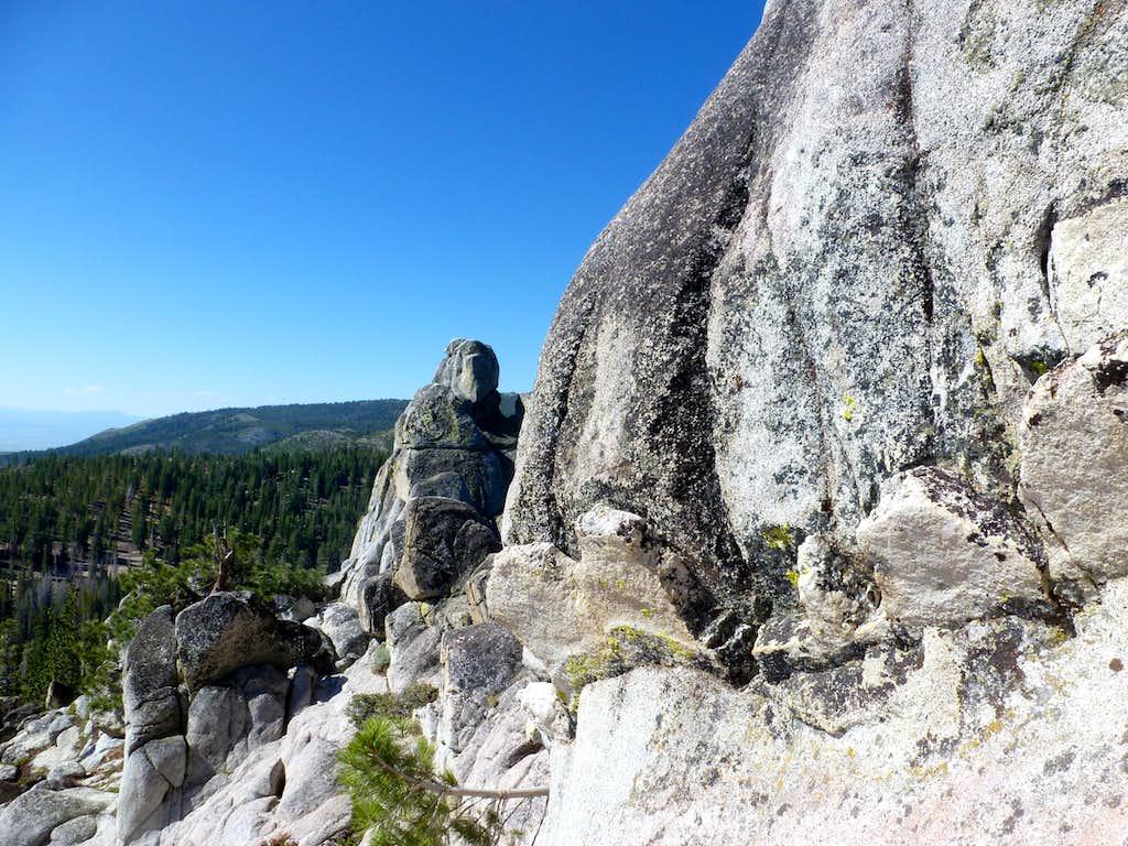 Rock towers in the Carson Range, east of Hobart Creek Reservoir