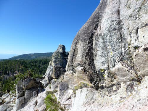 Rock towers in the Carson Range, east of Hobart Creek Reservoir