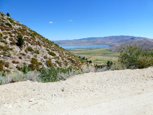 View down to Washoe Lake