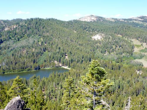Hobart Creek Reservoir and Marlette Peak from Peak 8208