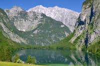 Lake Obersee and the east face of the Watzmann