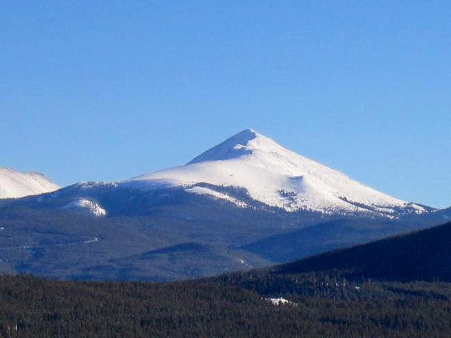 A snow covered Bald Mountain...