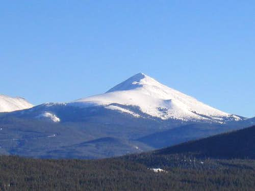 A snow covered Bald Mountain...