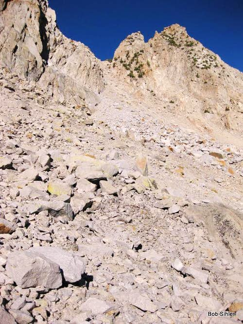 Chute and Saddle Between Pinnacles 9 and 10
